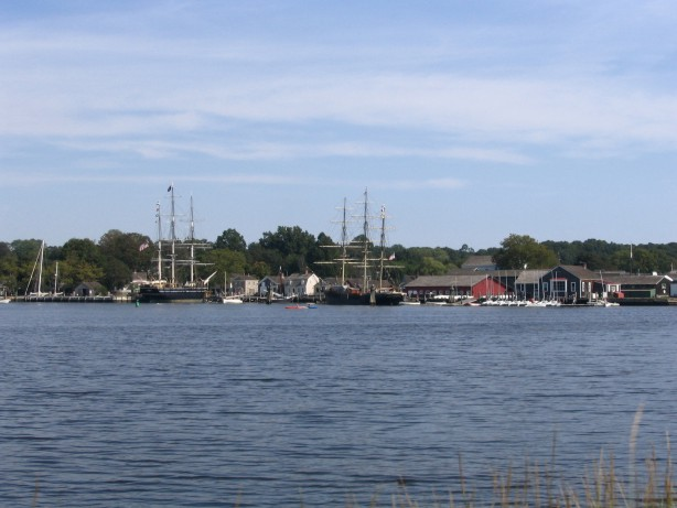 Mystic seaport sailboats