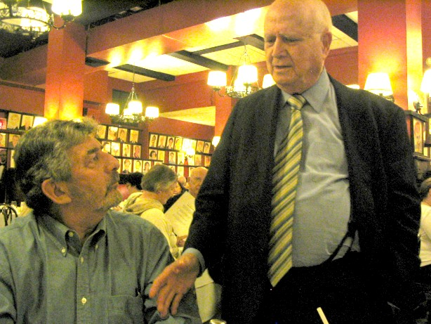 Gary Smith with Gerald Shoenfeld at Sardi's