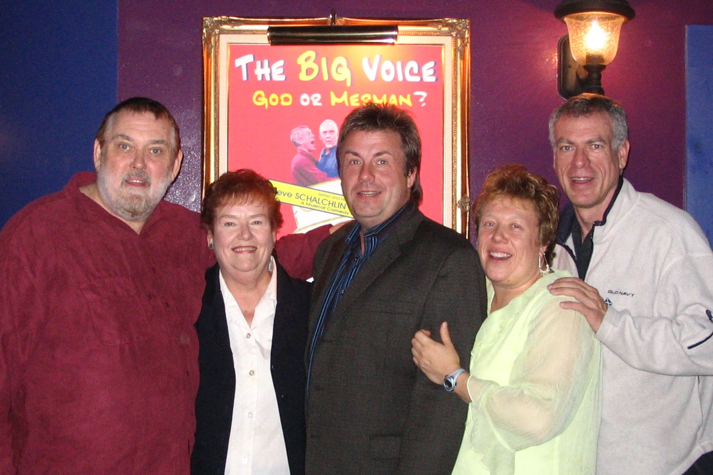 Jim, Janet, Brett, Karen and Steve at The Big Voice: God or Merman