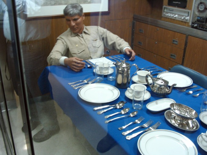 Officer's mess on a submarine.