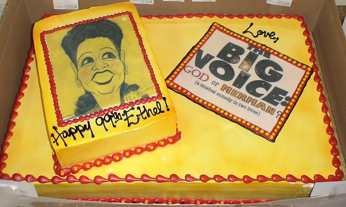 Ethel Merman Birthday Cake