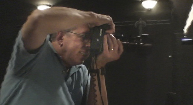 Ed Krieger takes intense photo