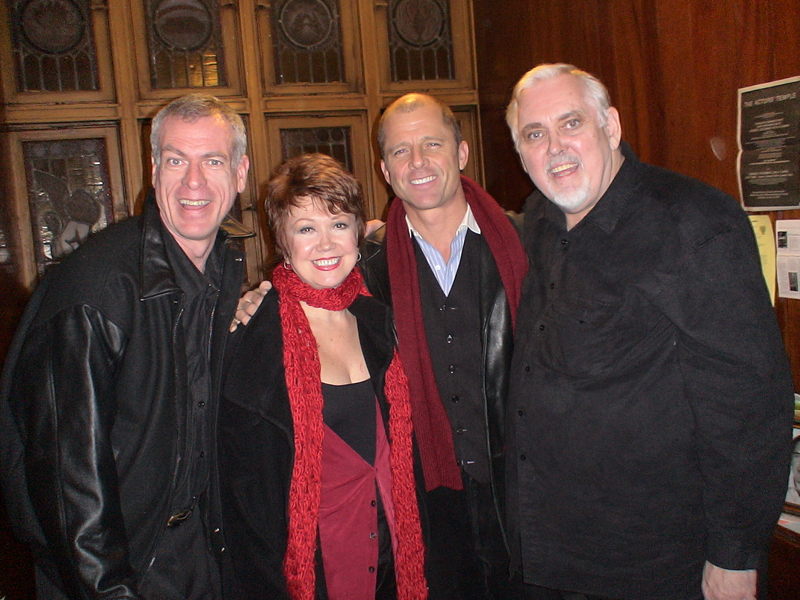 Steve Schalchlin, Donna McKechnie, Maxwell Caulfield, Jim Brochu at THE BIG VOICE: GOD OR MERMAN?
